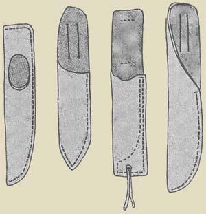 Как сделать чехол из бумаги для ножа