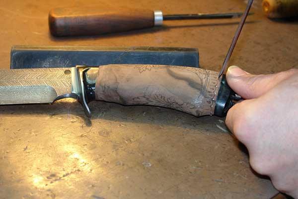 Ручка для ножа своими руками фото